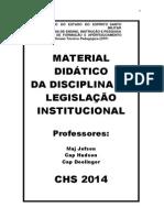 CHS 2014 - Apostila de Legislação Institucional