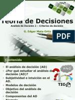 Teoría de Decisiones 2 DA