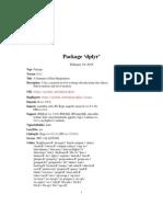 Dplyr Manual