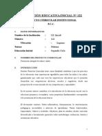 Proyecto Curricular Centro Inicial 189