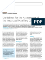 Dent Update 2013. Guidelines for the Assessment of the Impacted Maxillary Canine - Copy