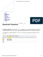 Solve a Quadratic Equati..