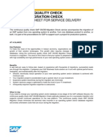 Continous Quality Check SAP OS DB Migration Check