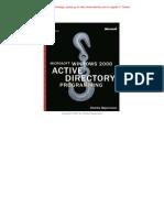 Microsoft Windows 2000 Active Directory Programming