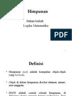Logika Matematika (Himpunan) 2013