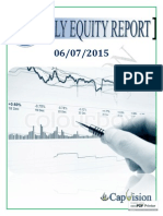 Equity Weekly Report 6-07-2015