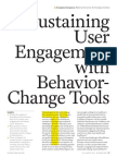 Sustaining User Engagement with Behavior Change Tools