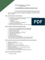 Course Outline. Envi Law & Natres