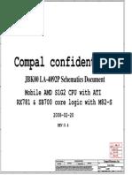HP Pavilion DV7 Compal LA-4092P JBK00 UMA Discrete Shematic Diagram 0.4