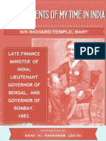 Men and Events of My Time in India by Sir Richard Tample Bart