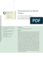 Environmental Cost-Benefit Analysis