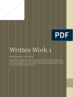 Written Work 1