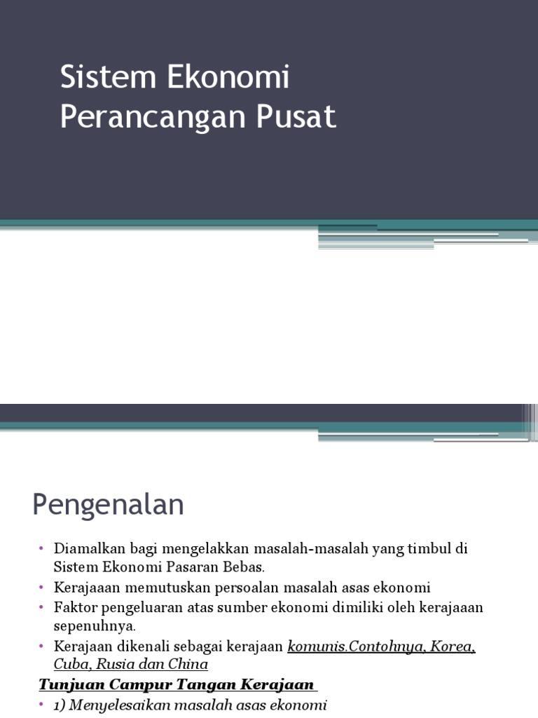 Sistem Ekonomi Perancangan Pusat