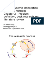 Problem definition and desk research in Research Methods