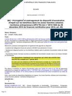 Instruction fiscale Prorogation de l'exonération fiscale dans les ZFU