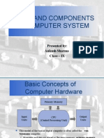 Parts and Components of Computer System