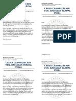 Letter Canonization certificate