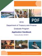 Graduate Application Handbook - 2016