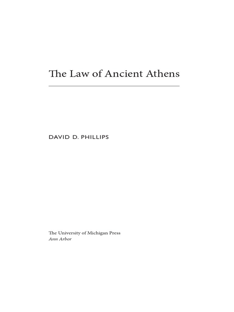 Phillips The Law Of Ancient Athens Tyrant Ancient Greece