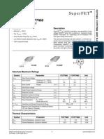 FCP7N60 N-channel Mosfet