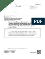 Relatora de Vivienda a-HRC-25-54_spfinal Informe Final Seguridad de La Tenencia