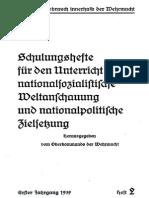 Oberkommando Der Wehrmacht - Schulungshefte - Erster Jahrgang 1939 - Heft 2