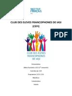 Club Des Eleves Francophones de Iasi Dossier Complet