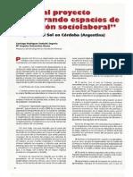 Visita al proyecto generando espacios de inserción sociolaboral