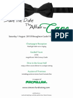 Broughton Charity Dinner and Auction Poster