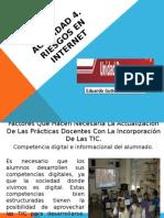 Pertinencia de usar recursos TIC en el aula, Uso ético del Internet, Riesgos en las Redes Sociales