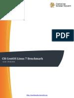 CIS CentOS Linux 7 Benchmark v1.0.0