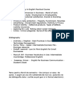 Topics for the Essay in English Practical Course