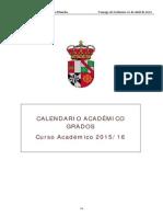 Calendario Academico de Grado 2015-2016