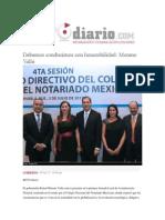 04-07-2015 Reto Diario.com - Debemos Conducirnos Con Honorabilidad, Moreno Valle