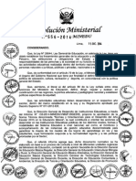 RM N° 556-2014-MINEDU Normas y Orientaciones Año escolar 2015