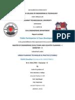 Public Participation in Town Development