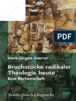 Hans-Jürgen Goertz-Bruchstücke Radikaler Theologie Heute. Eine Rechenschaft-Vandenhoeck & Ruprecht (2010)