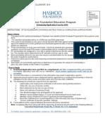 AA Scholarship Application Form 2014