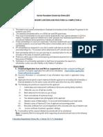 HF Scholarship Criteria 2014