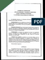 Acuerdo de Cooperacion Alimentaria Entre Argentina y Venezuela