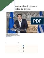 El No Aumenta Las Divisiones en La Sociedad de Grecia