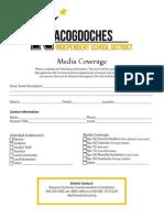 media coverage checklist form