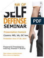Law of Self Defense Presentation Slides