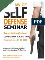 Law of Self Defense Presentation Slides