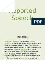 Reported Speech Project