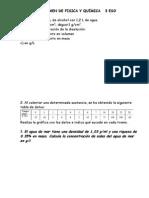 Examen de Fisica y Química 3 Eso