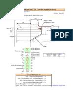 Mensula diseño calculo