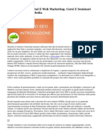 Master Online Digital E Web Marketing. Corsi E Seminari SEO, SEM, Social Media
