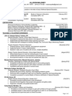 allison maloney -  resume