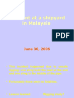 Incident at a Shipyard in Malaysia1